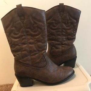 JustFab Cowboy Boots